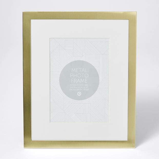 Matte Gold Photo Frame 20cm x 25cm | J and E rooms | Pinterest ...