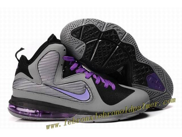 New Nike Zoom LeBron 9 Shoes Gray Purple Hot