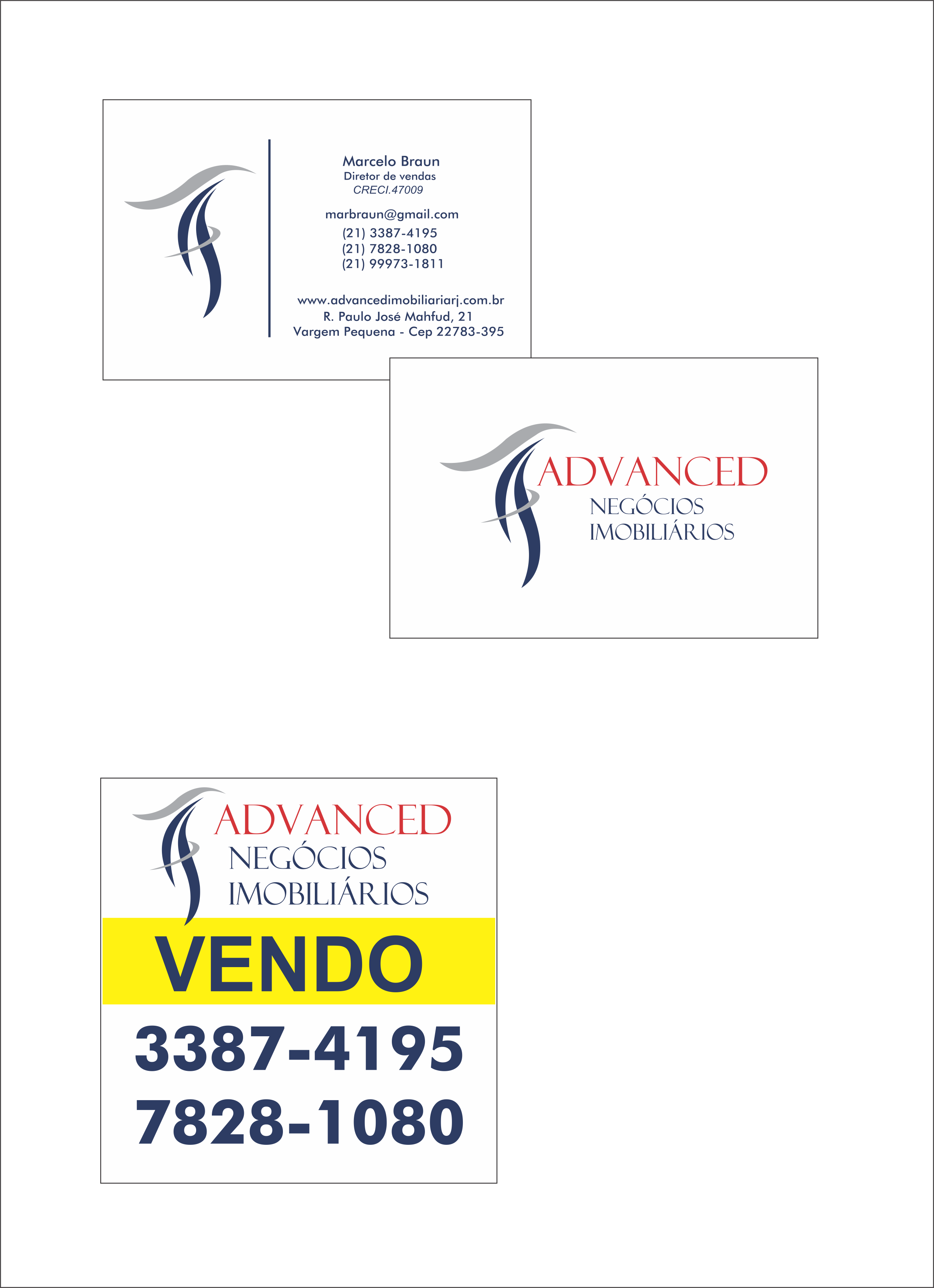 Criação de logomarca - cartão de visitas e banner