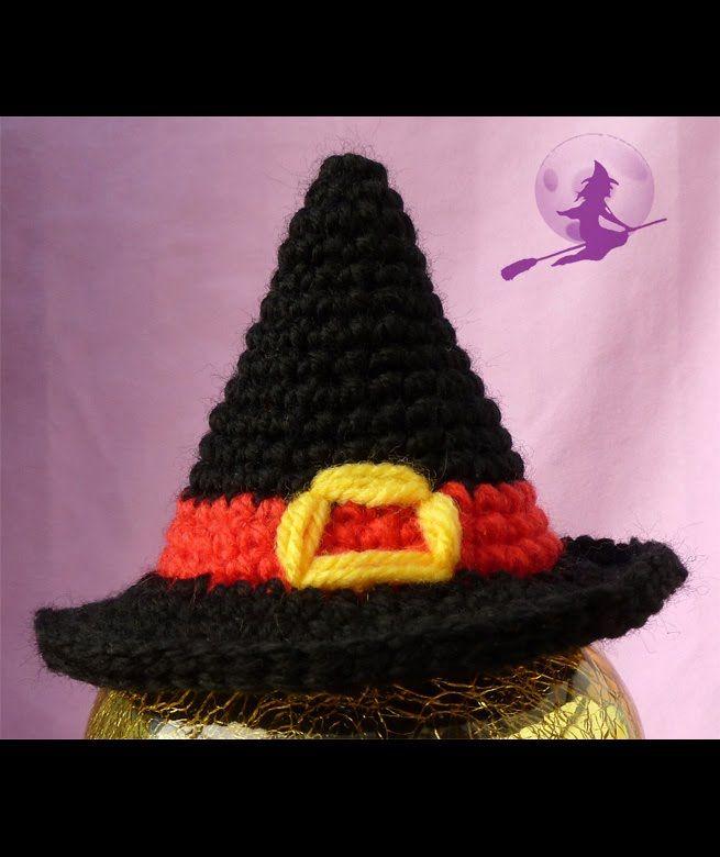 SOMBRERO DE BRUJA AMIGURUMI | crochet | Pinterest | Brujo y Ganchillo
