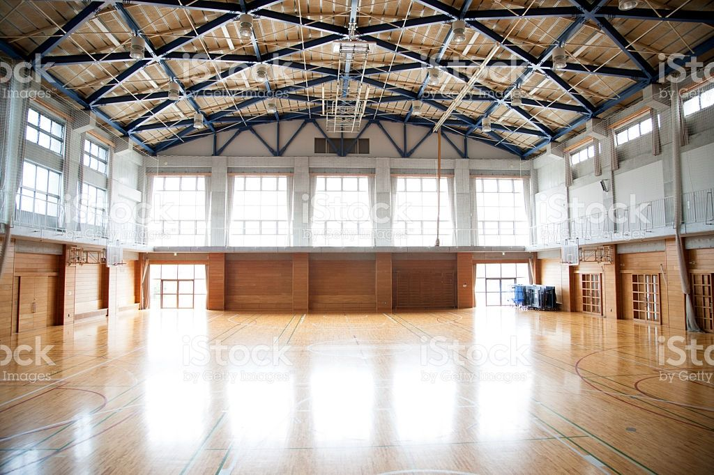 A View Of A Japanese High School An Empty Sports Hall With A Vaulted Japanese High School Physical Education Lessons Physical Education Lesson Plans