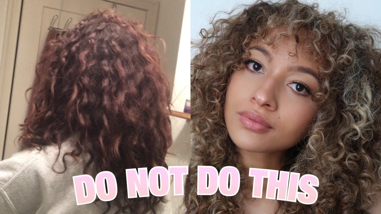 Curly Hair Don Ts That Might Be Causing Damage Transitioning Hair Youtube In 2020 Transitioning Hairstyles Curly Hair Styles Natural Hair Styles