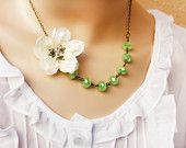 cherry blossom necklace, wedding accessories, bridal jewelery, bridesmaid necklace, bridal party