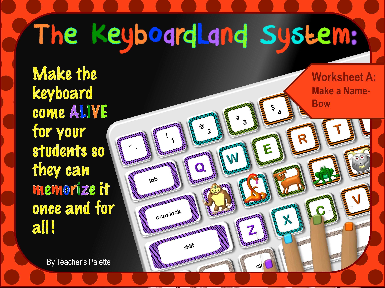 Keyboarding Worksheet A Make A Name Bow