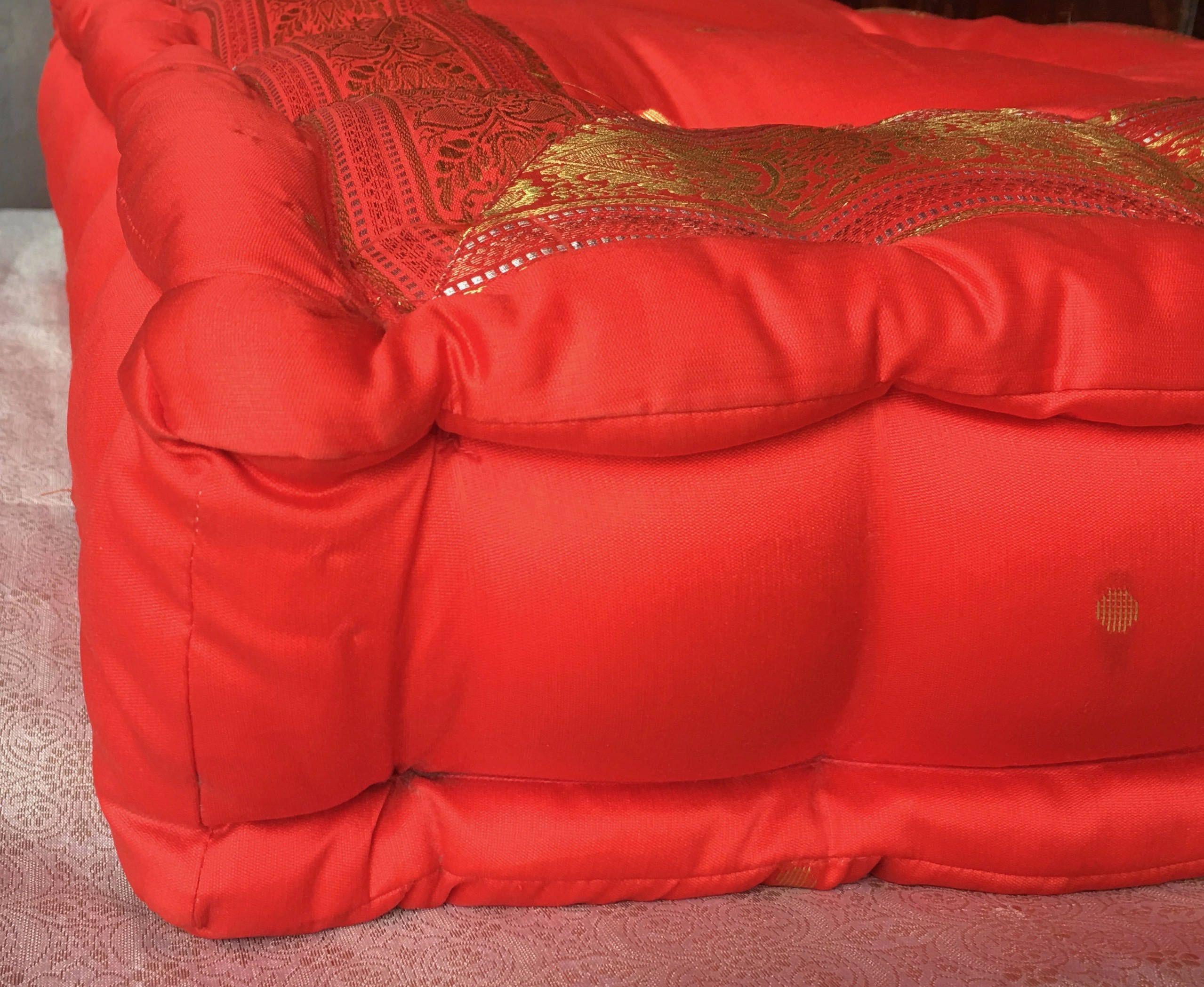 Red floor cushion, meditation pillow, floor sitting cushion, large ...