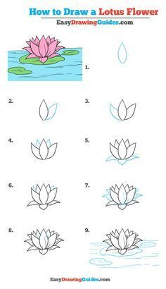 How to Draw a Lotus Flower - Really Easy Drawing Tutorial