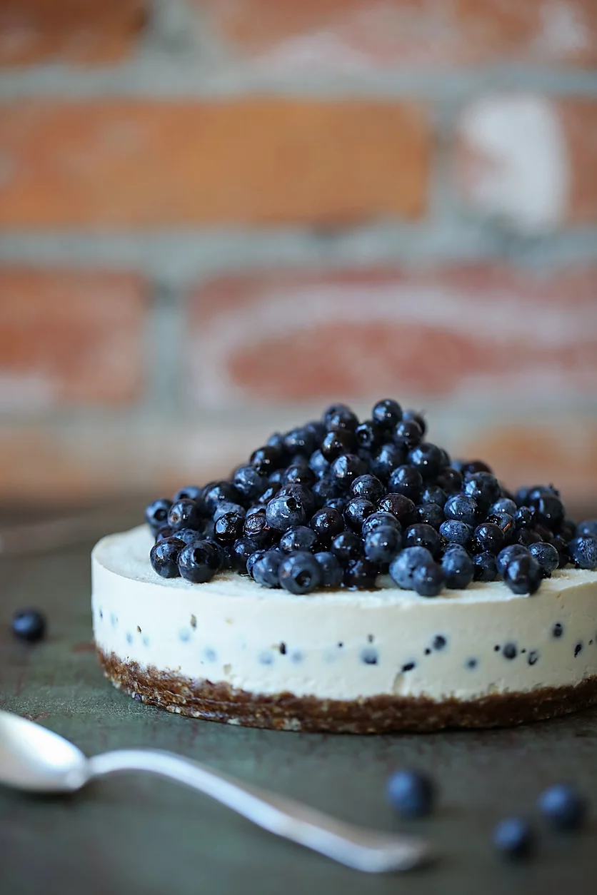 Lemon + Blueberry Cheesecake