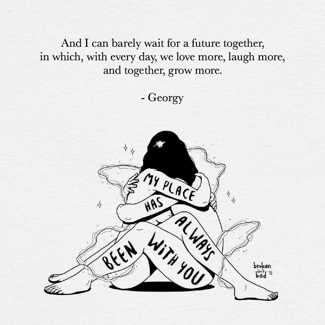 "Georgy B. on Instagram: ""Do want to grow together? . If you like poetry, check out @simplygeorgy . . Art by @broken_isnt_bad ."""