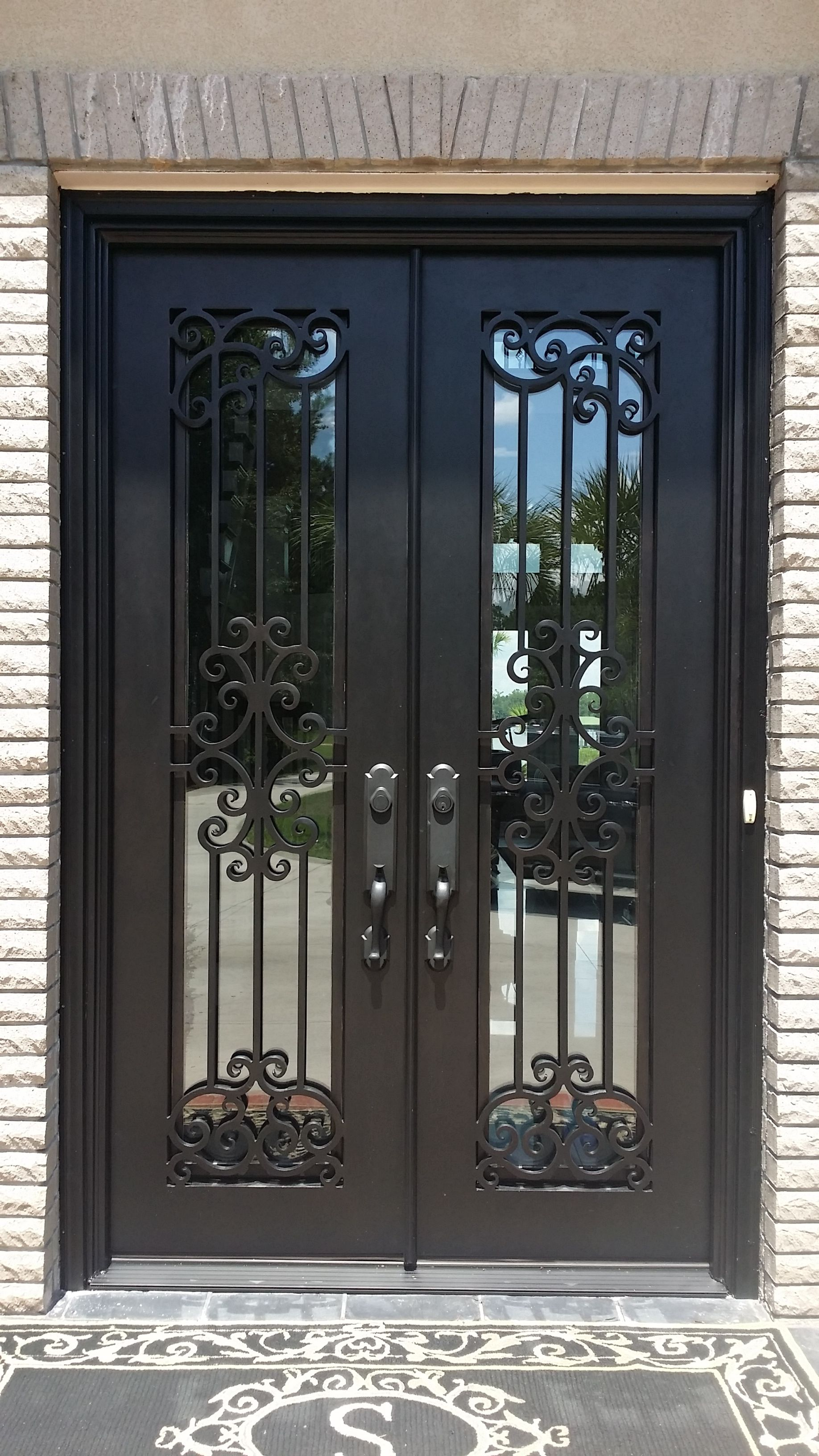 It Doesn T Get Much Better Than This Beautiful Wrought Iron Door