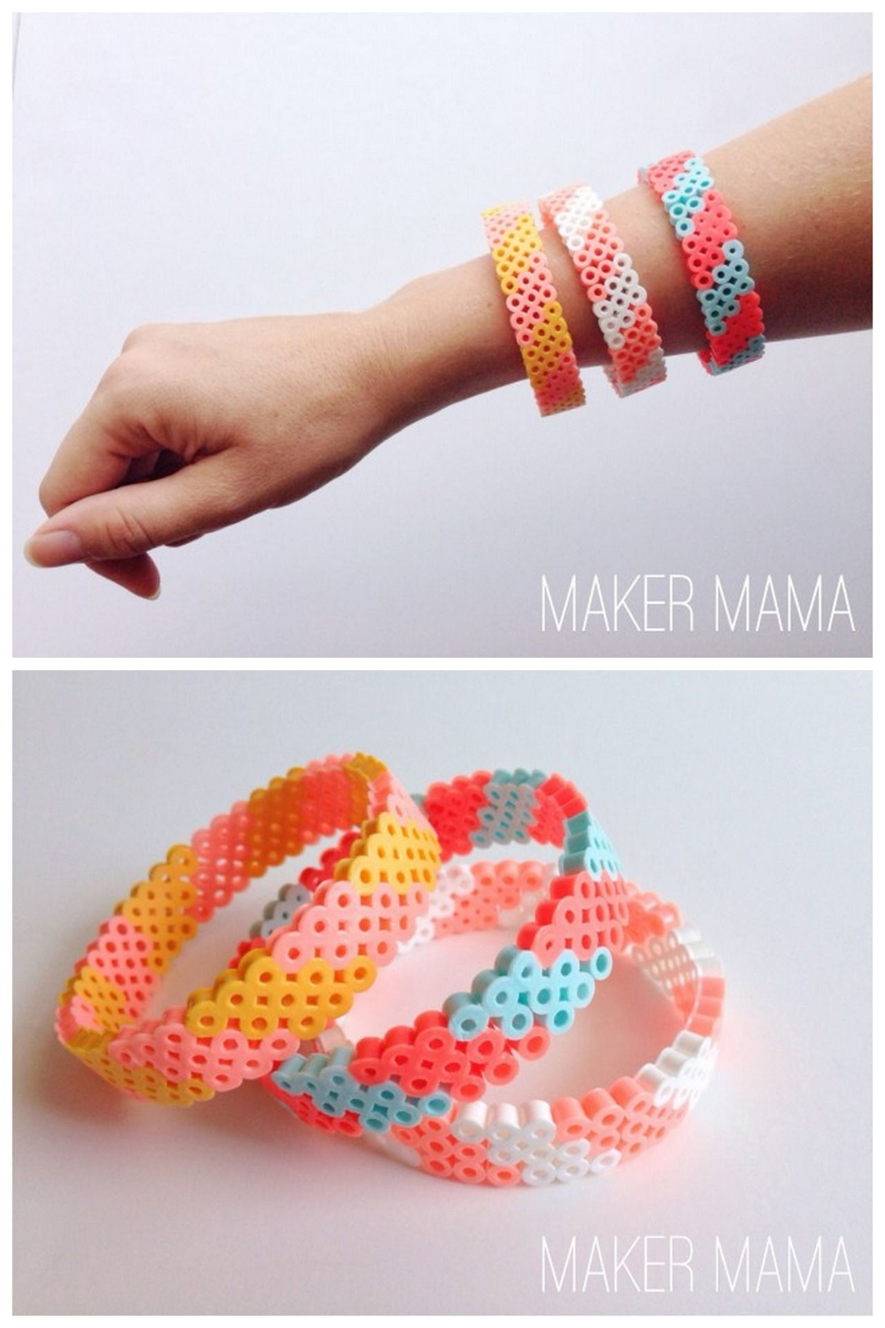 beaded perler bead diy ideas bracelet free zigzag patterns pattern for