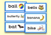 'b' themed flashcards