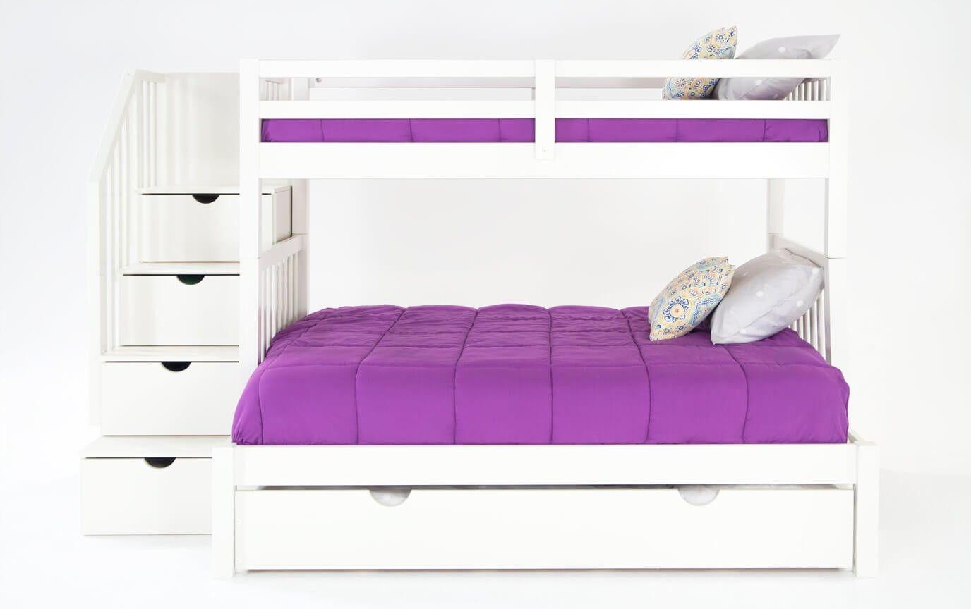 Best Keystone Espresso Stairway Twin Full Bunk Bed With 400 x 300