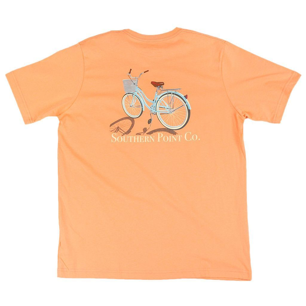 Bike Tee in Coral Orange by Southern Point Co.