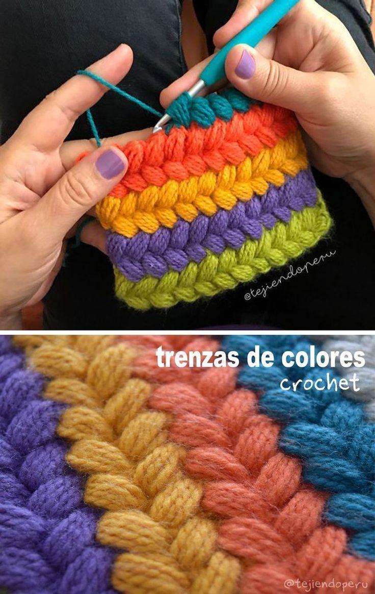 Braid Puff Stitch Crochet Pattern Tutorial Tığ Işleri Yün Iplikleri Tığ Desenleri