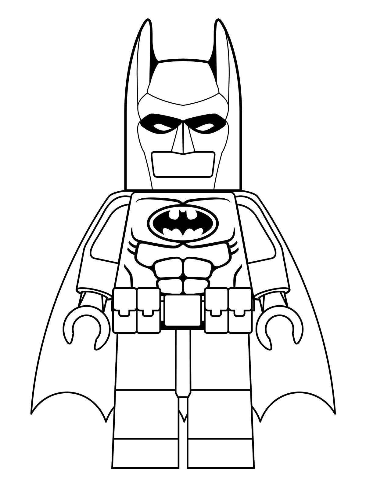Lego Batmobile Coloring Pages