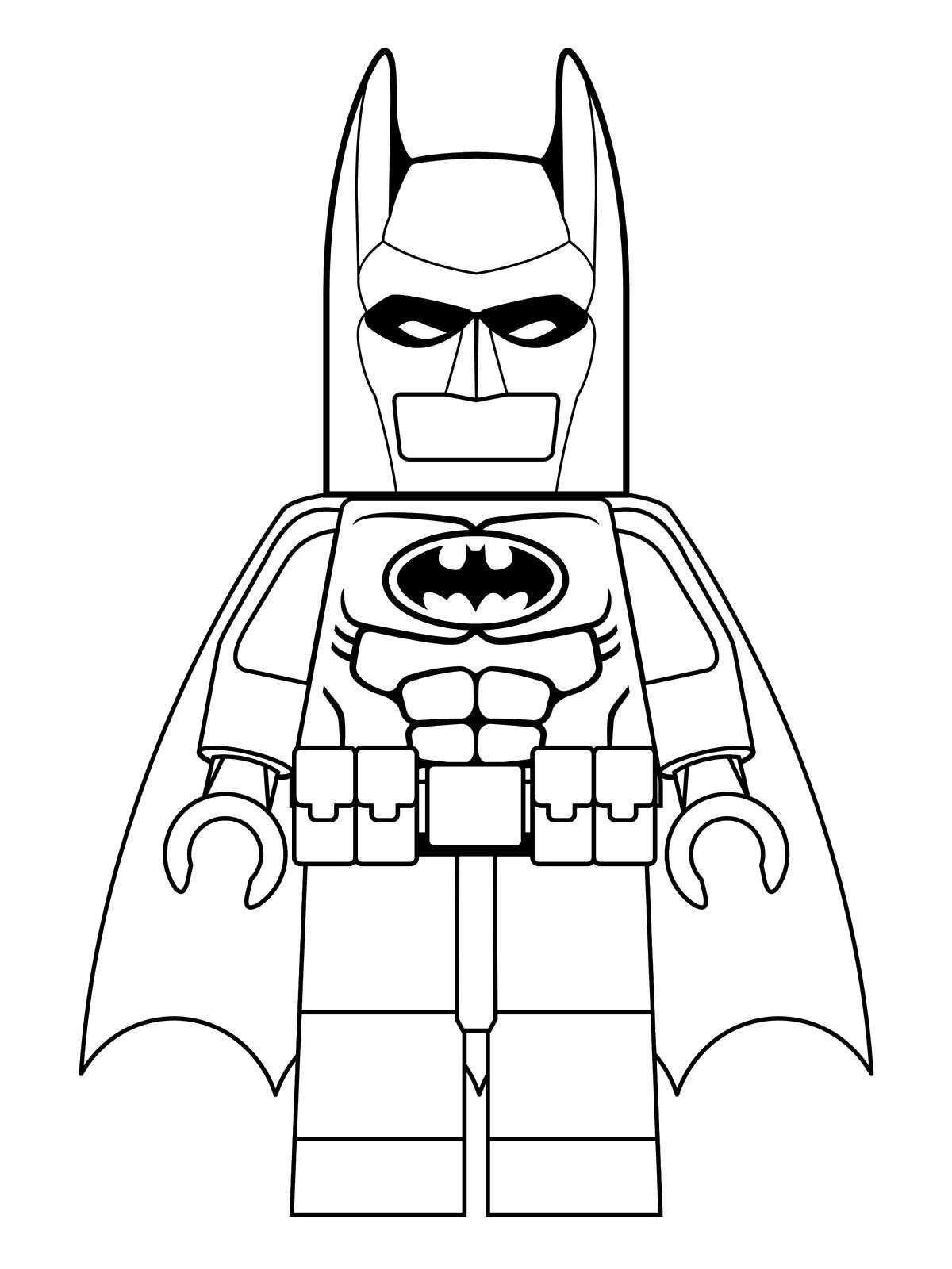 Coloring Page Lego Batman Movie Batman Movie Lego Movie