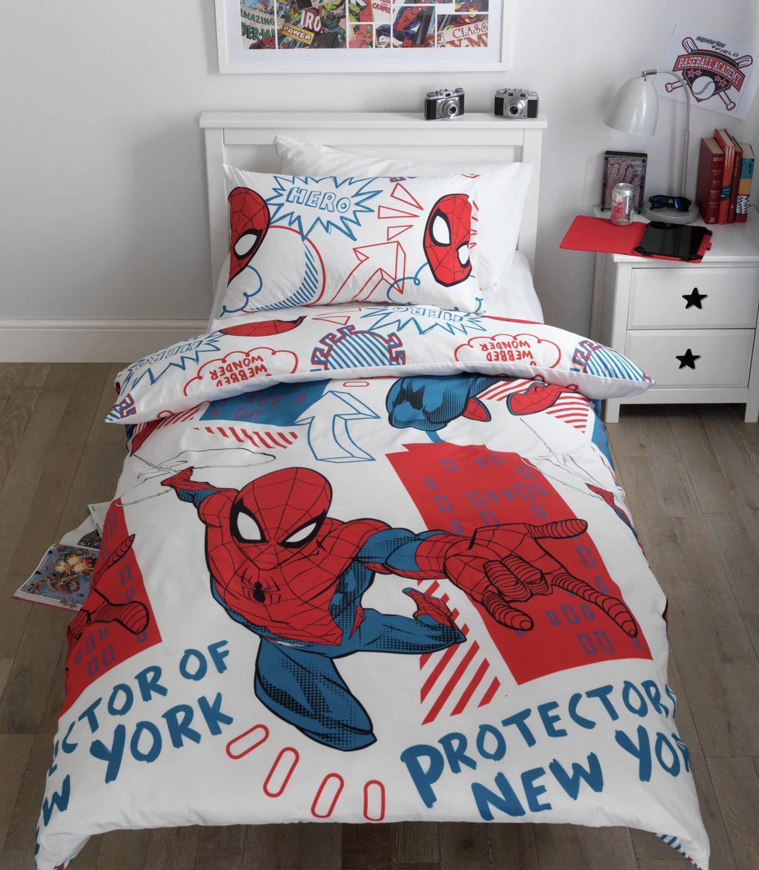 Buy Spider Man Bedding Set Single Kids Duvet Sets In 2020 Mens Bedding Sets Duvet Sets Spiderman Bed