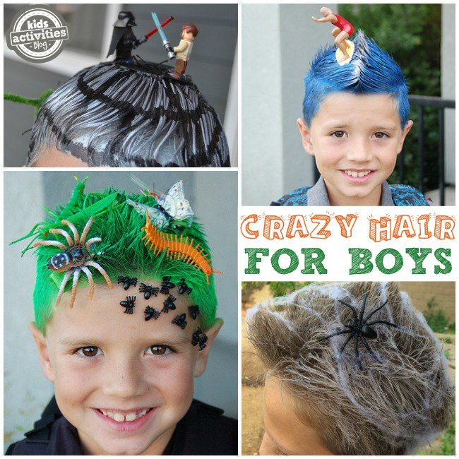Crazy Hair Day Ideas For School With Images Wacky Hair Days