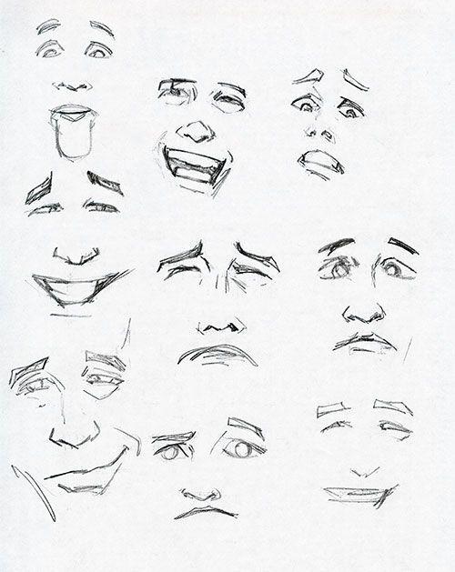 прошли мимика лица рисунок нежном