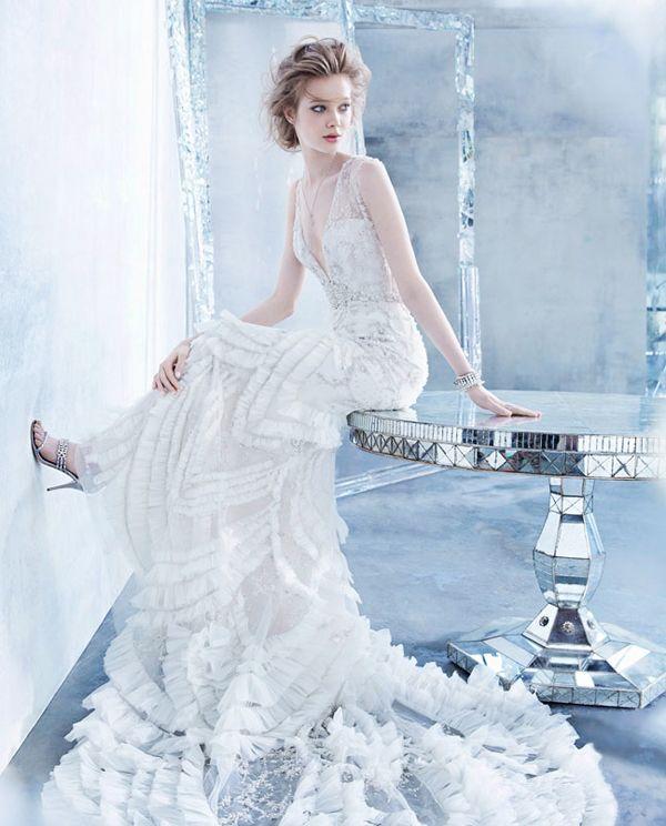 Lazaro Fall 2014 Wedding Dresses: 36 Breathtaking Ice Queen Inspired Wedding Dresses For