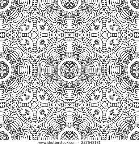 Dibujo De Mandala Con Patrón De Espiral Para Colorear