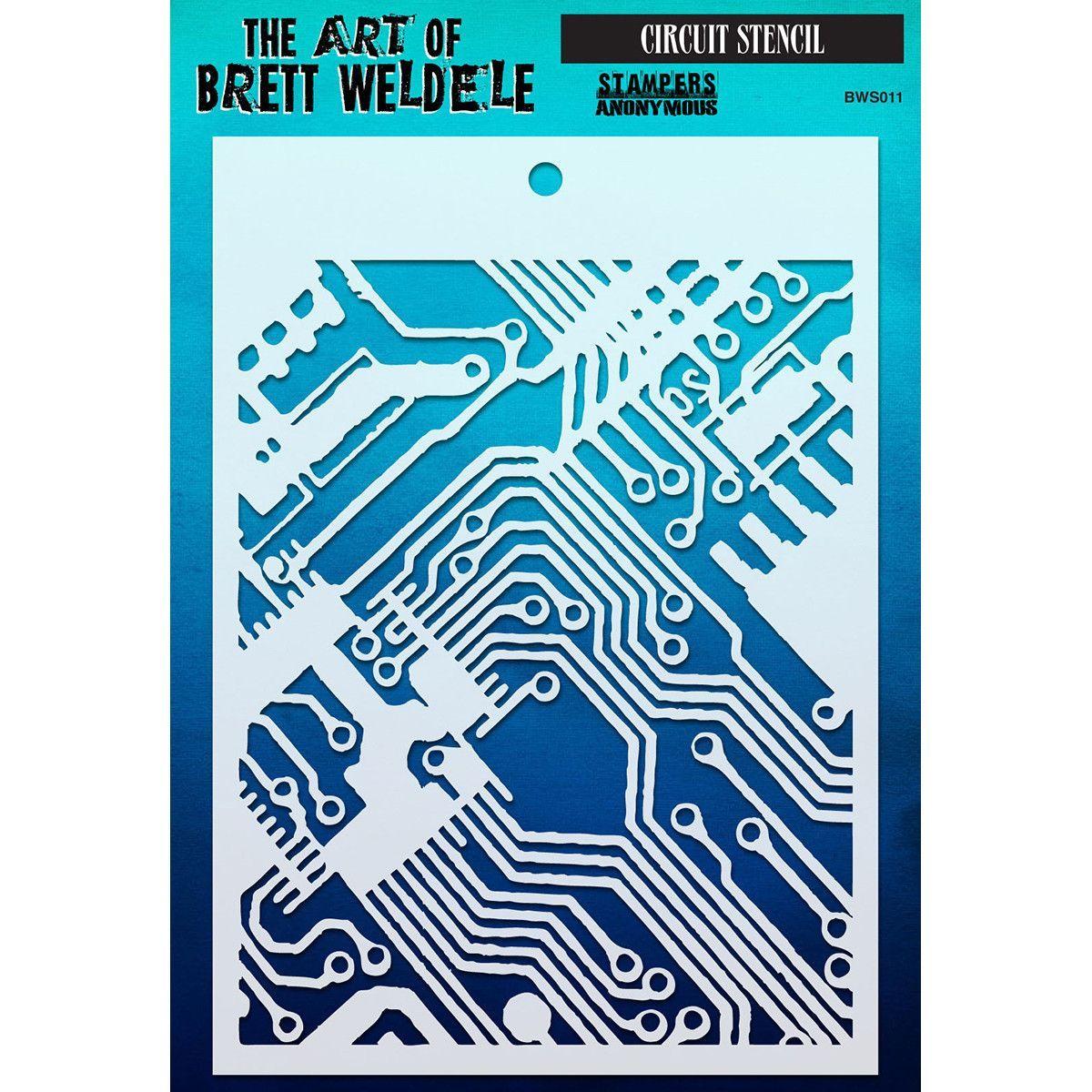 Brett Weldele Stencils - Circuit