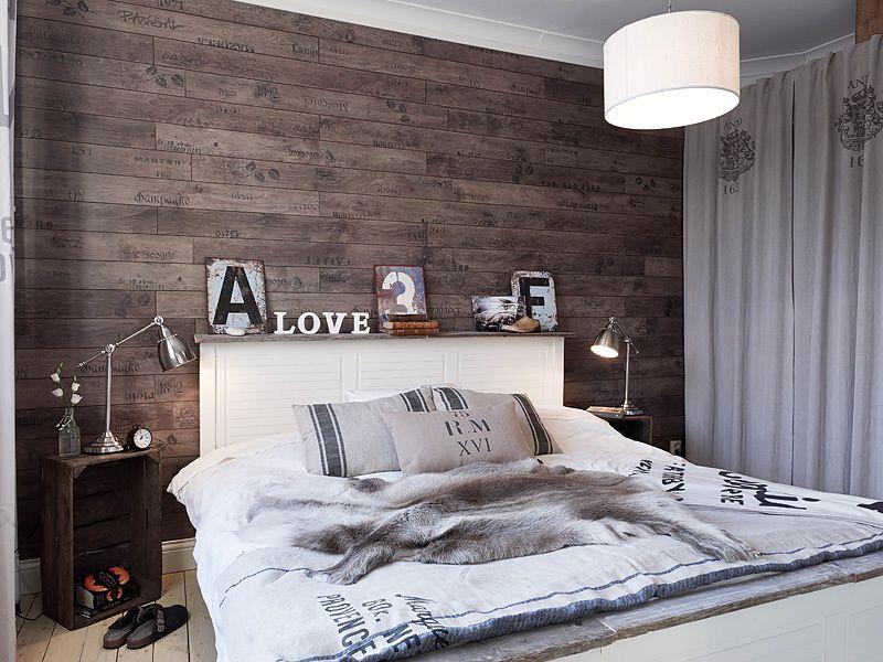 Pareti Rivestite Di Legno : Camera da letto con parete rivestita in legno camere da letto