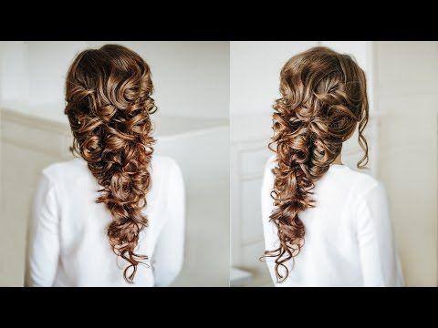 Voluminous Greek Style Braid Easy Hairstyle For Long Dark Hair