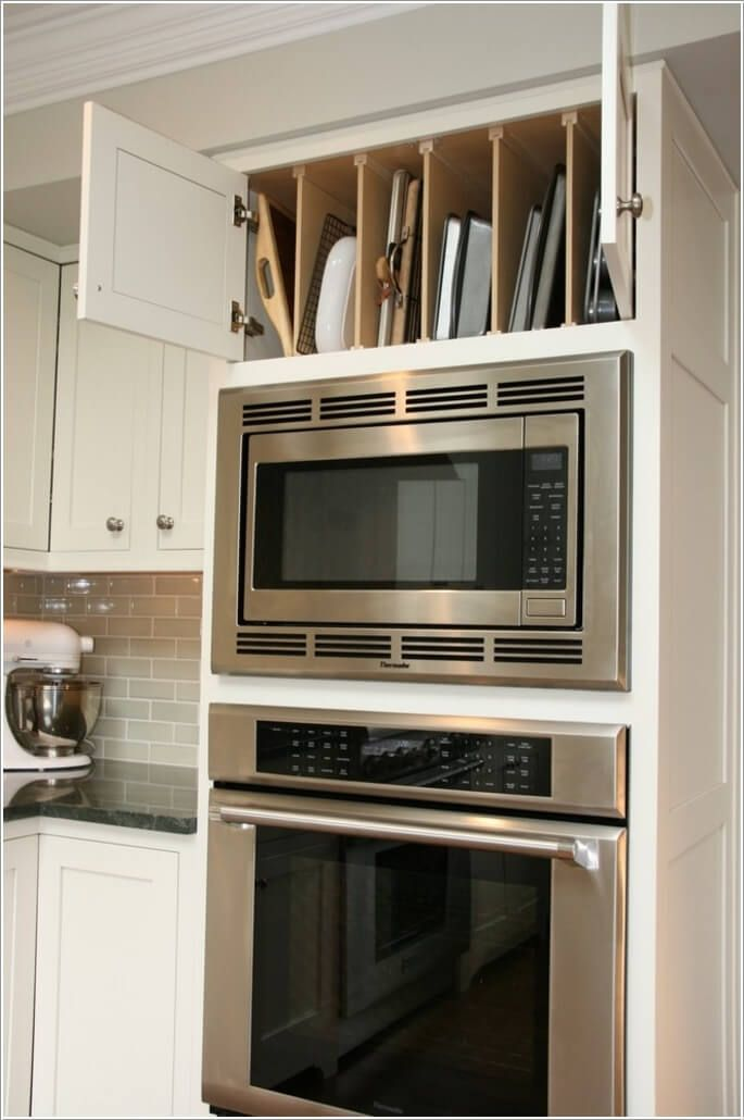 Create a Space Above the Microwave Oven Cabinet
