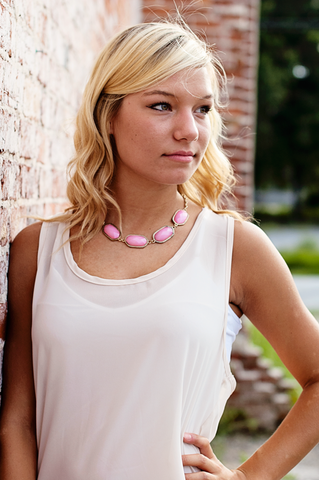 Strawberry Iced Tea Necklace $22