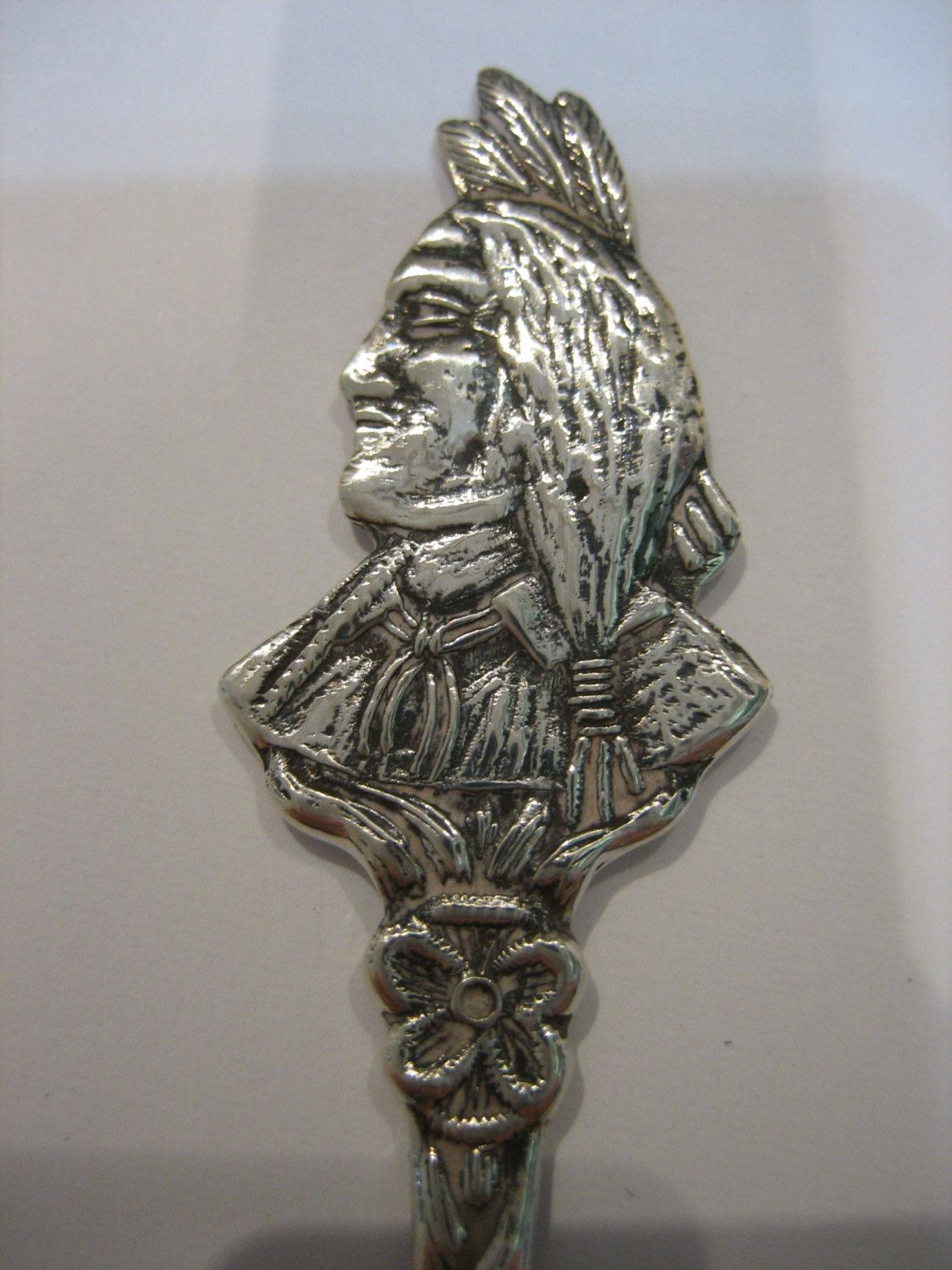 Vintage Sterling Silver Native American Spoon BMCO by CLASSYBAG on Etsy