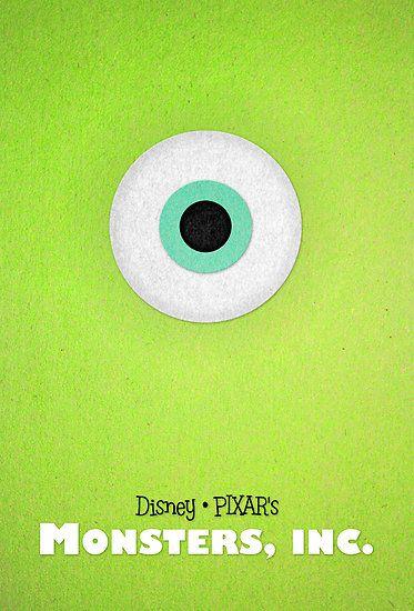 Monsters Inc By Sam Novak Disney Minimal Movie Posters