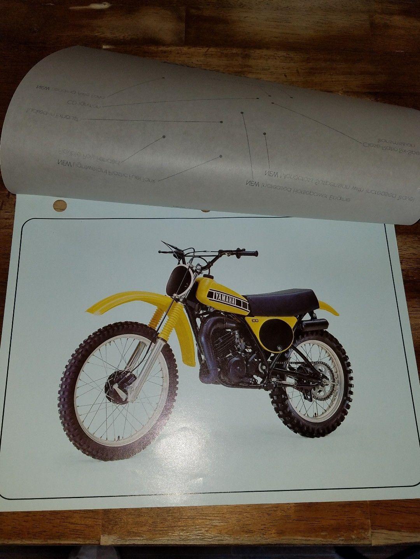 VINTAGE Yamaha yz100 yz250 brochure. AHRMA.   eBay Motorcycle Parts, Yamaha