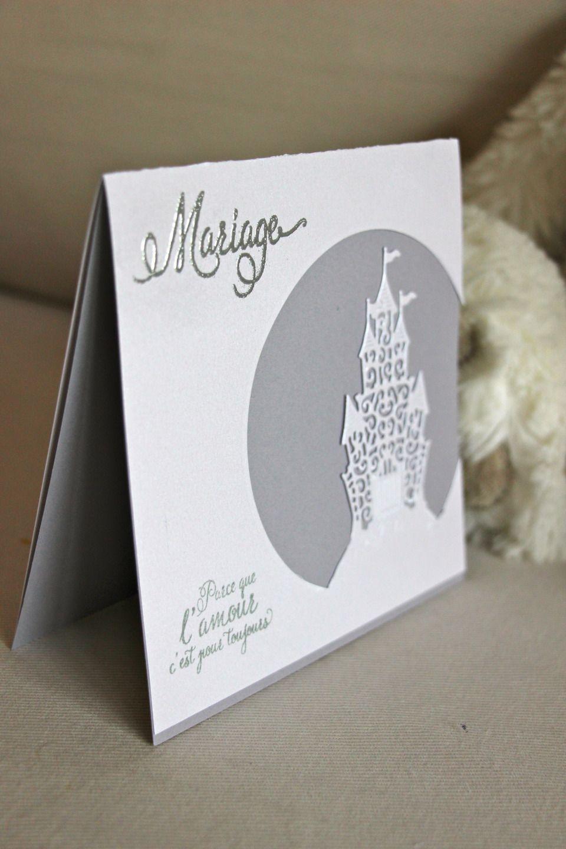 faire part mariage carte remerciements bapt me invitation carr e 100 personnalisable ch teau. Black Bedroom Furniture Sets. Home Design Ideas