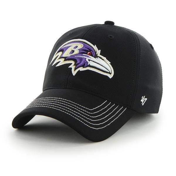 df3877b4446694 Baltimore Ravens Game Time Closer Black 47 Brand Stretch Fit Hat ...