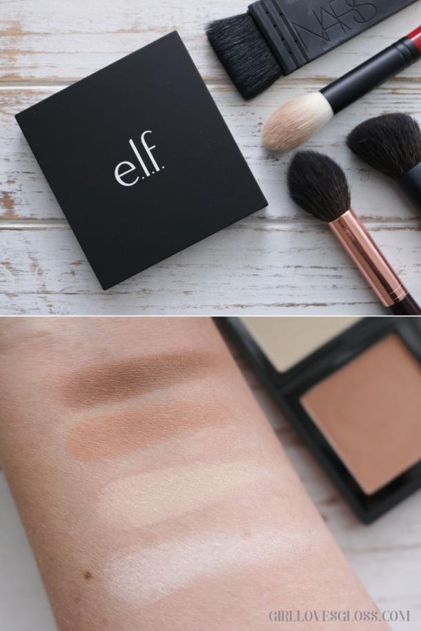 ELF Contour palette Review and Swatches makeup contour