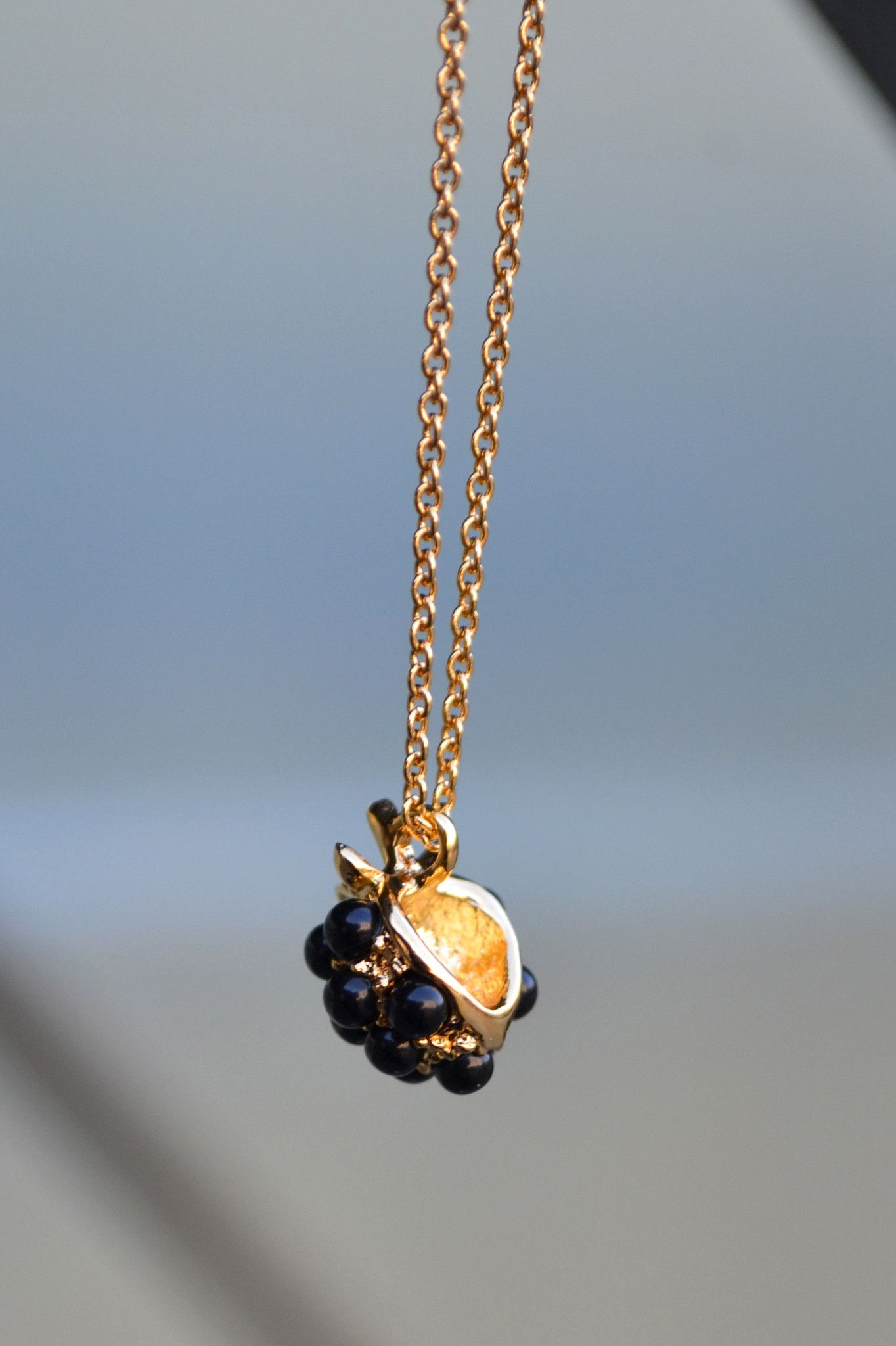 Bill skinner blackberry pendant gold necklace bill skinner berries bill skinner blackberry pendant gold necklace aloadofball Image collections