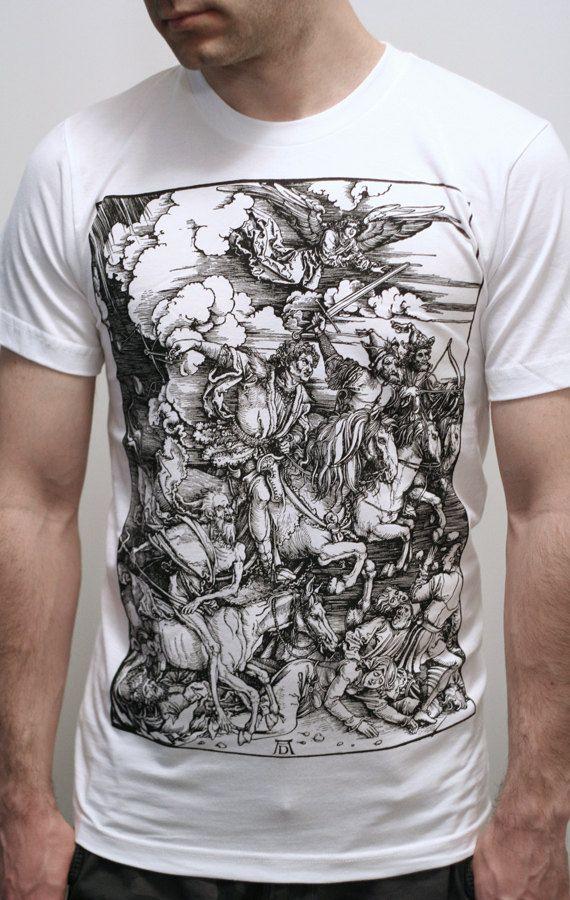 huge discount 31102 cd55b Albrecht Durer - Four Horsemen of the Apocalypse - Mens t shirt   Unisex t  shirt (Albrecht Durer shirt ).  23.00, via Etsy.