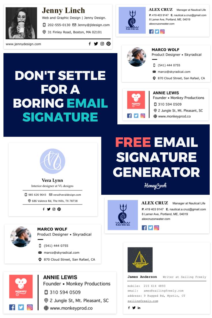 Create a beautiful, professional email signature in