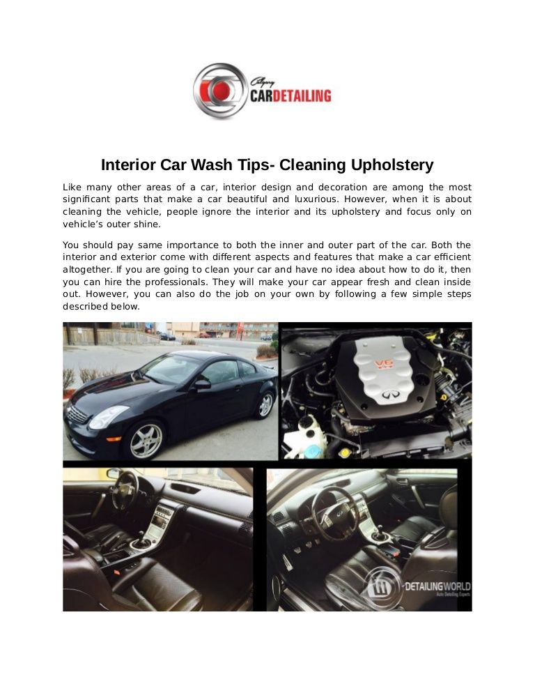 Get the detailed guide on cleaning Your Car Upholstery in