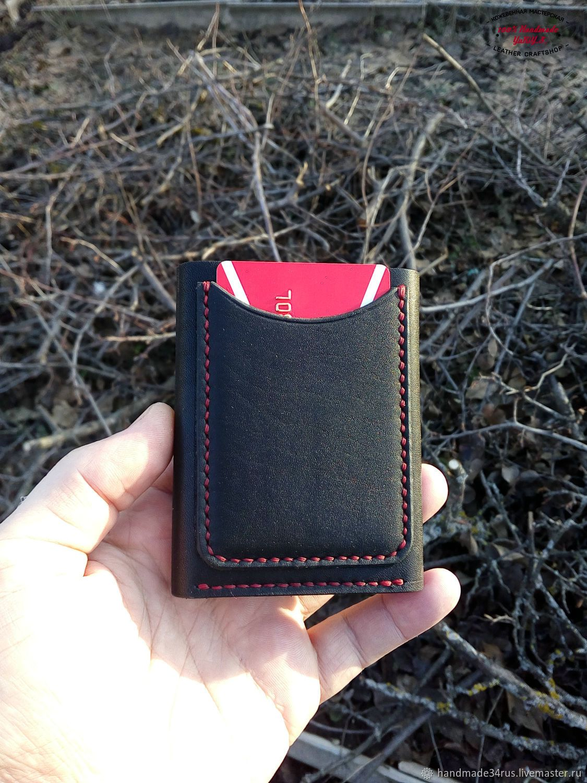 cb91ba20f401 Супер компактный,вместительный кожаный кошелек.Ручная работа - купить или  заказать в интернет-