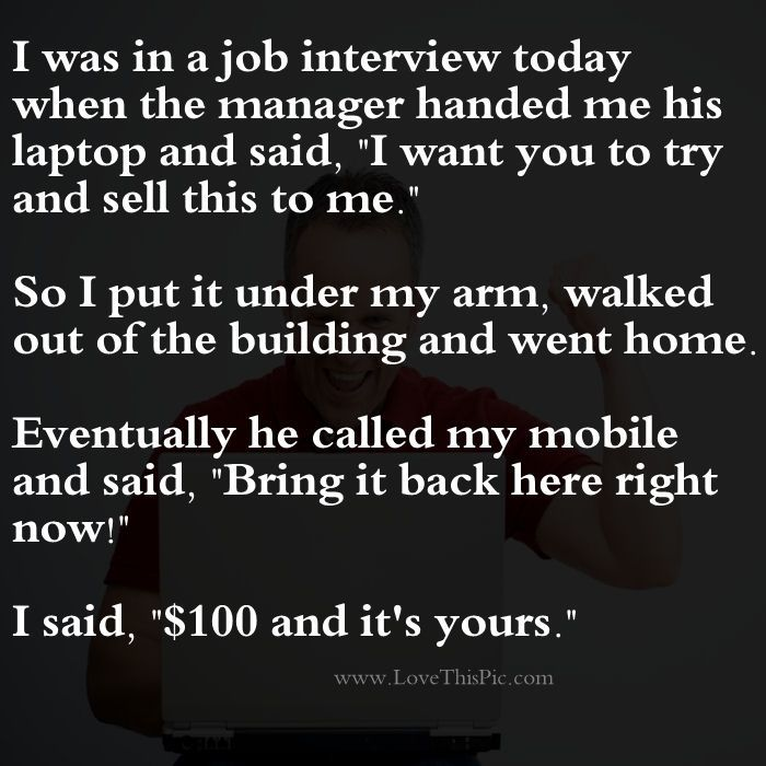 Funny Job Quotes And Sayings: The Job Interview... Funny Jokes Story Lol Funny Quote