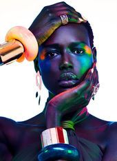 Photo of Ajak Deng Dazzles in Luxe Jewels for Vogue Portugal  Ajak Deng Vogue Portugal Be…