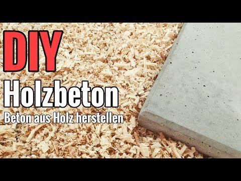 Tutorial: Beton aus Holz herstellen / ein innovativer Baustoff der Zukunft? - YouTube