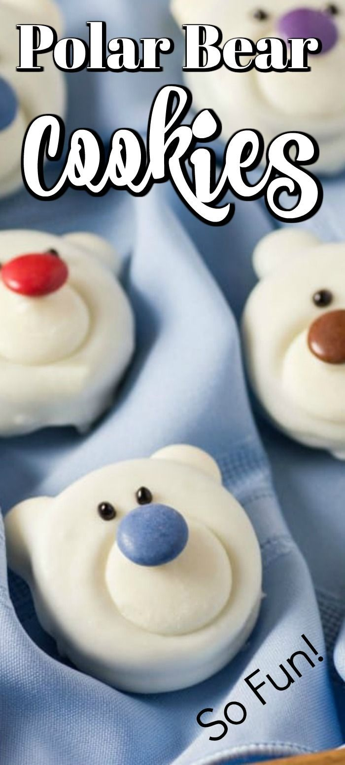 Cookie These Polar Bear Cookies are so fun to make for the whole family and look great on a cookie platter for the holidays Great for a skating party too