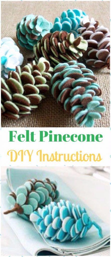 DIY Felt Christmas Ornament Craft Projects Instructions