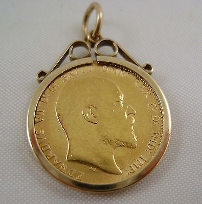 Mounted full gold #sovereign #edward vii 1910 in 9ct gold #mount ,  View more on the LINK: 	http://www.zeppy.io/product/gb/2/371501131010/