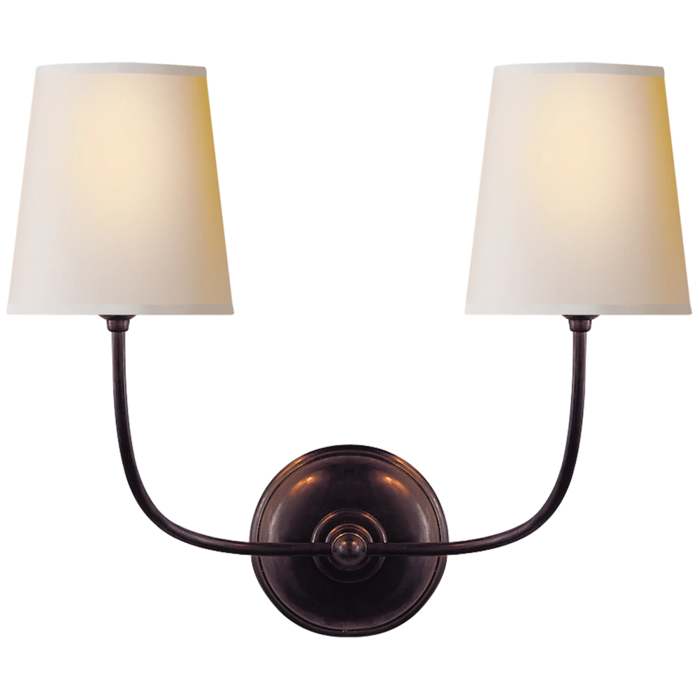 Vendome Double Sconce Sconces Visual Comfort Wall Sconces