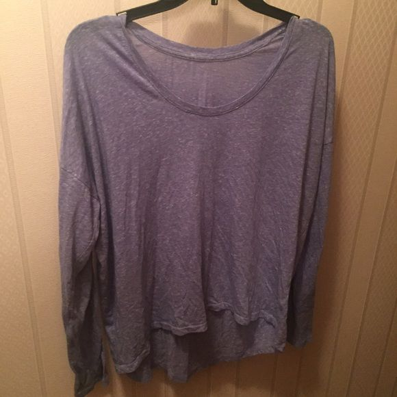 Purple hi low top Shorter in the front longer in the back, purple heather long sleeve tee. Runs on the bigger side . Tops