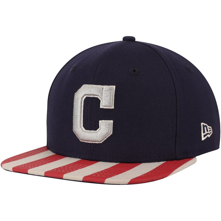 super popular 453ec baaf0 ... new zealand mens cleveland indians new era navy red fully flagged  9fifty adjustable hat your price